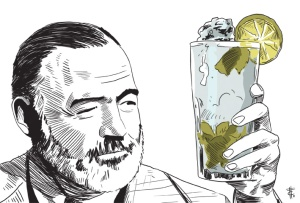 Ernest-Hemingway-and-his-mojito