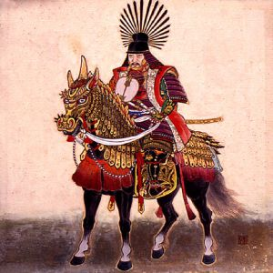 toyotomi_hideyoshi_on_his_horse