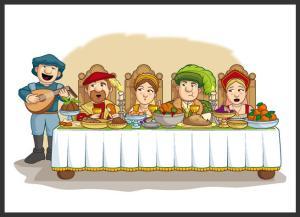 Histort tUDOR AT DINNER
